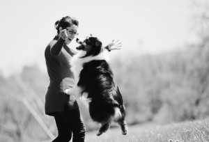 Dog lovers and their dogs